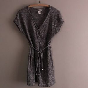 Motherhood Maternity Marled Gray Knit Tunic Top